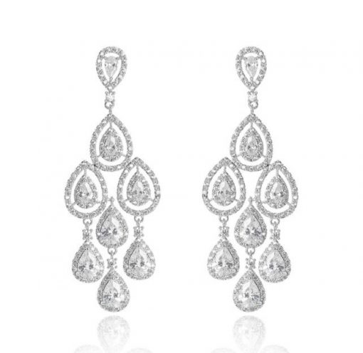 boucles oreilles mariage luxe chandelier Caroll 3