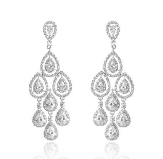 boucles oreilles mariage luxe chandelier Caroll 3