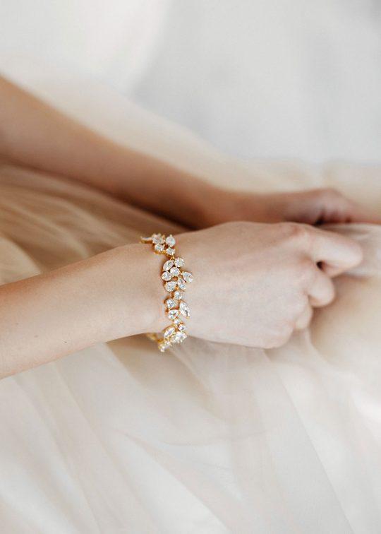 Bracelet original or rose mariage ou soirée « Carmen »