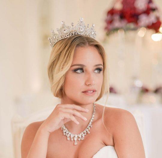 Couronne mariage Swarovski cristal diadème royal Adriana