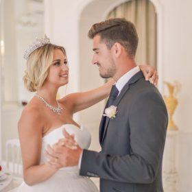 Couronne mariage Swarovski cristal diadème royale Adriana