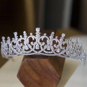 Diadème tiare mariage oxyde de zirconium, accessoire de luxe Juliette