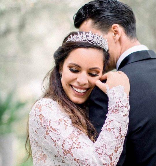 Diadème tiare mariage zircon 8