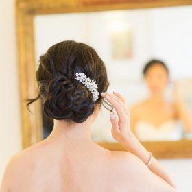 Peigne cheveux mariée fleur cristal, bijoux de tête