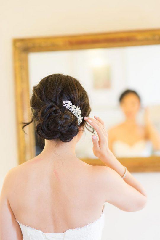 """Peigne cheveux mariée fleur cristal, bijoux de tête """"Felicia"""""""
