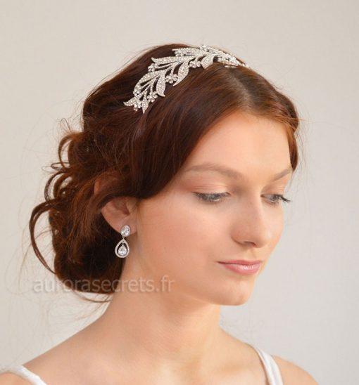 bijou cheveux Downton-Abbey serre tete feuilles