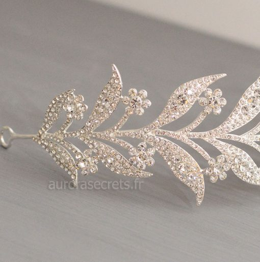 bijou cheveux Downton-Abbey serre tete feuilles 3