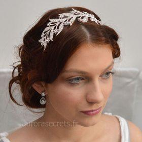 bijou cheveux Downton-Abbey serre tete feuilles 4