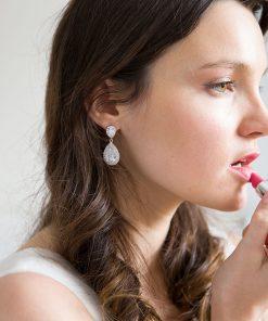 boucles oreilles mariage cristal zircon 2