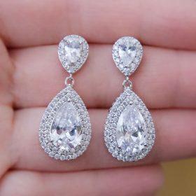 boucles oreilles mariage cristal zircon