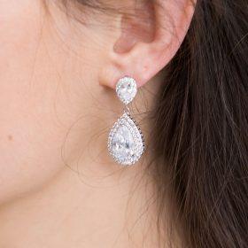 boucles oreilles mariage cristal zircon 5