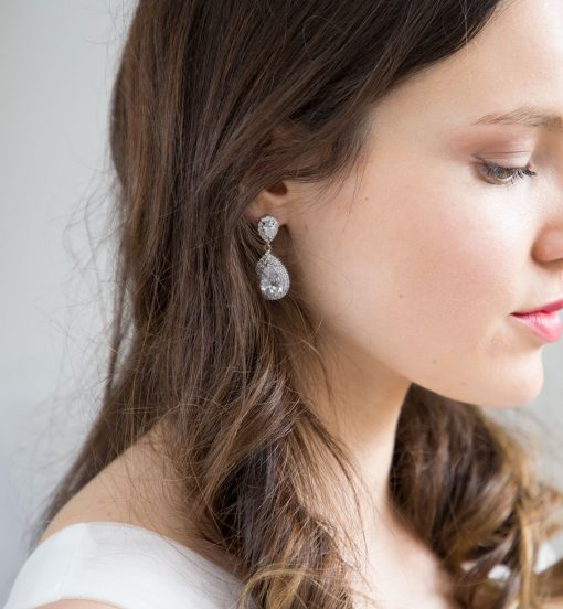 boucles oreilles mariage cristal zircon 6