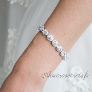 bracelet mariage oxyde de zirconium ovale 2