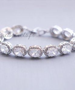 bracelet mariage oxyde de zirconium ovale