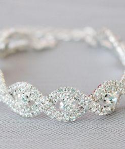 bracelet mariage vintage strass