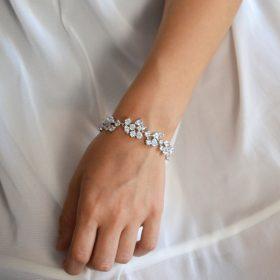 Bracelet original argent mariage, bijou de luxe