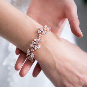 bracelet original or rose mariage