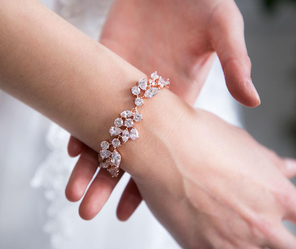 daabb92d5ce Bracelet original or rose mariage