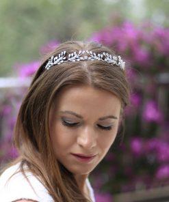 diadème bijoux mariage feuilles 3