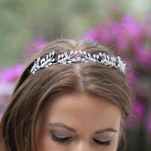 diadème bijoux mariage feuilles