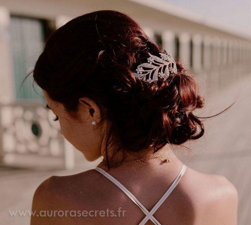 Diadème mariage feuilles Downton Abbey, bijoux de cheveux « Lady Mary »