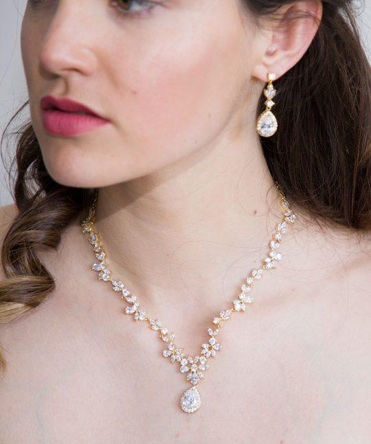 parure bijoux mariage or 2