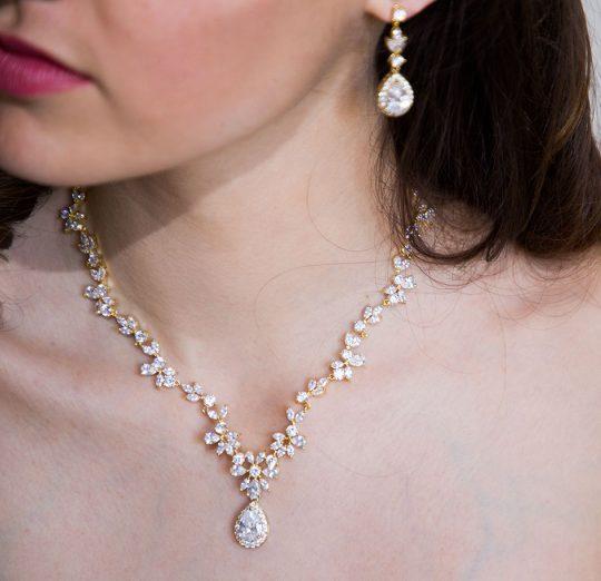 parure bijoux mariage or