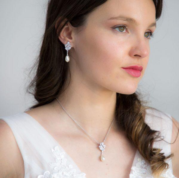parure mariage cristal perles