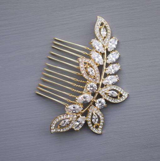 peigne-cheveux feuilles bijou tete dore 2