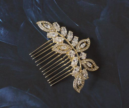 peigne-cheveux feuilles bijou tete dore 4