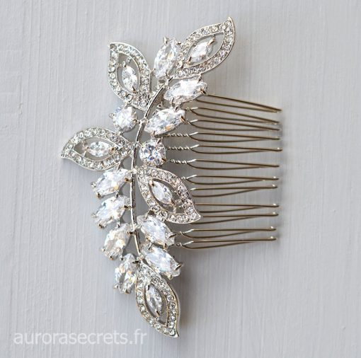 Peigne cheveux mariage feuilles