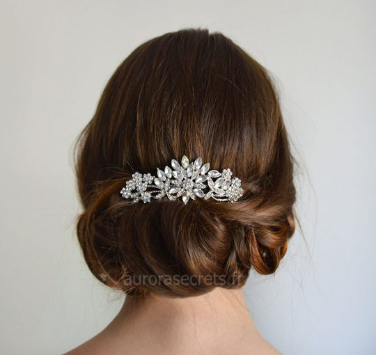 peigne cheveux mariee fleur cristal