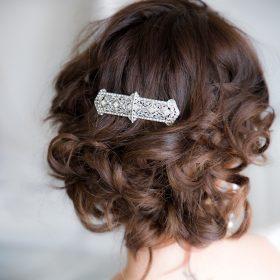 peigne coiffure mariage art deco cristal