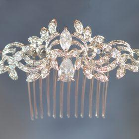 peigne coiffure mariage cristal argente 2