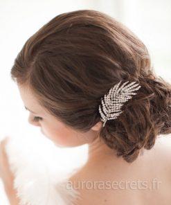 peigne mariage plume