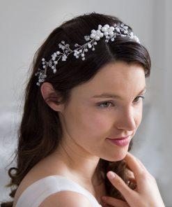 vigne cheveux couronne mariage