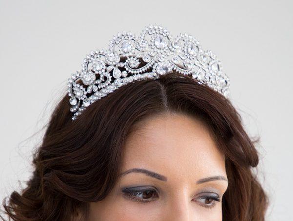 Diadème de mariage, couronne de luxe