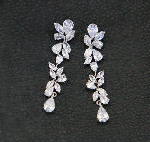 Boucles d'oreilles pour mariage pendantes