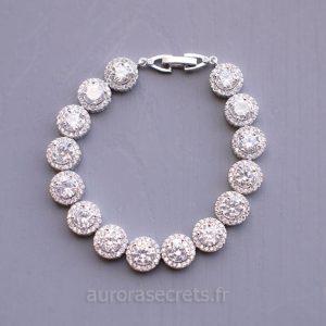 Bracelet mariage chic orné oxydes de zirconium