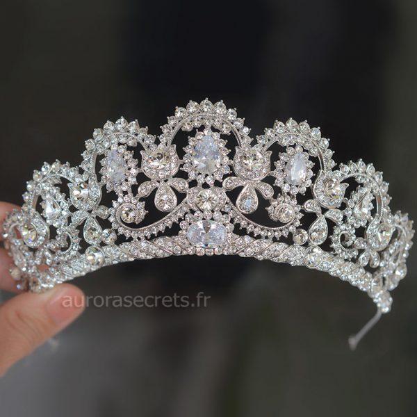 Diadème de mariage, couronne royale de luxe