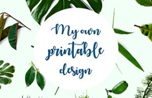 Logo My Own Printable Design - papeterie personnalisé par graphiste