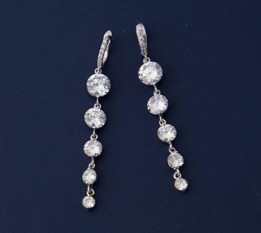 Boucles d'oreilles longues pendantes pour mariée