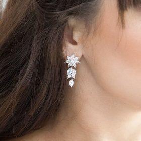 boucles d'oreilles mariage brillantes