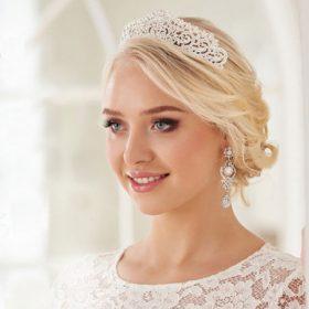 Diadème mariage incrusté cristaux Swarovski