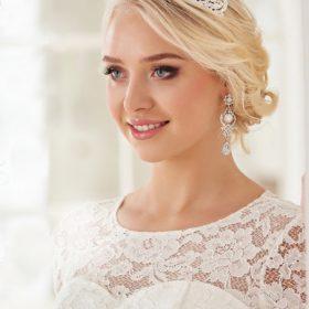 Diadème mariage incrusté de cristaux Swarovski