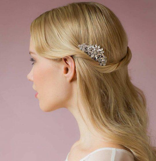 Petit peigne coiffure mariage cristal Valentina