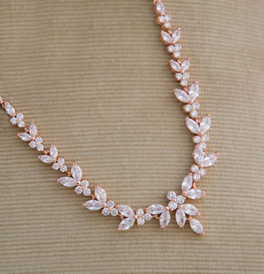 collier cristal rose gold