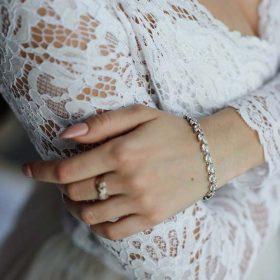 Bracelet mariée cristal Zircon « Ingrid »