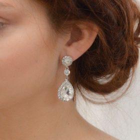 boucles d'oreilles mariage pendantes