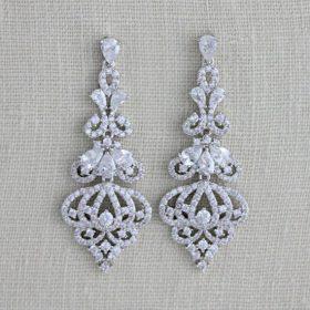 boucles d'oreilles en cristal Zircon